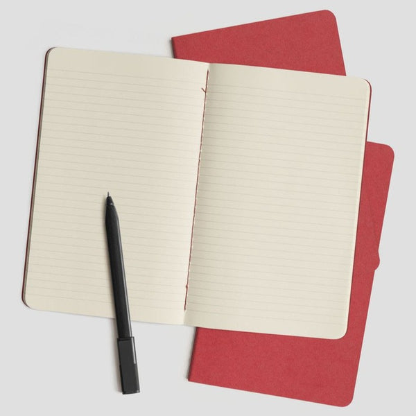Moleskine Cahier Notebook Set of 3 LARGE: Cranberry Red