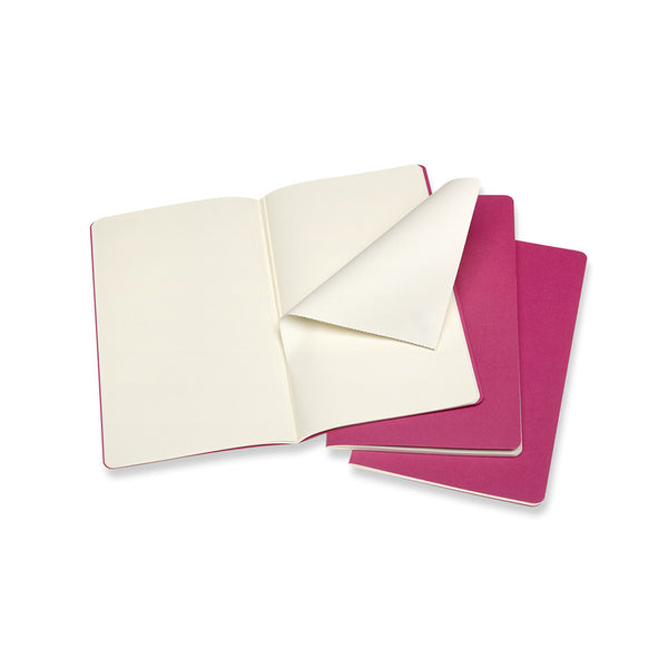 Moleskine Cahier Notebook Set of 3 LARGE: Kinetic Pink
