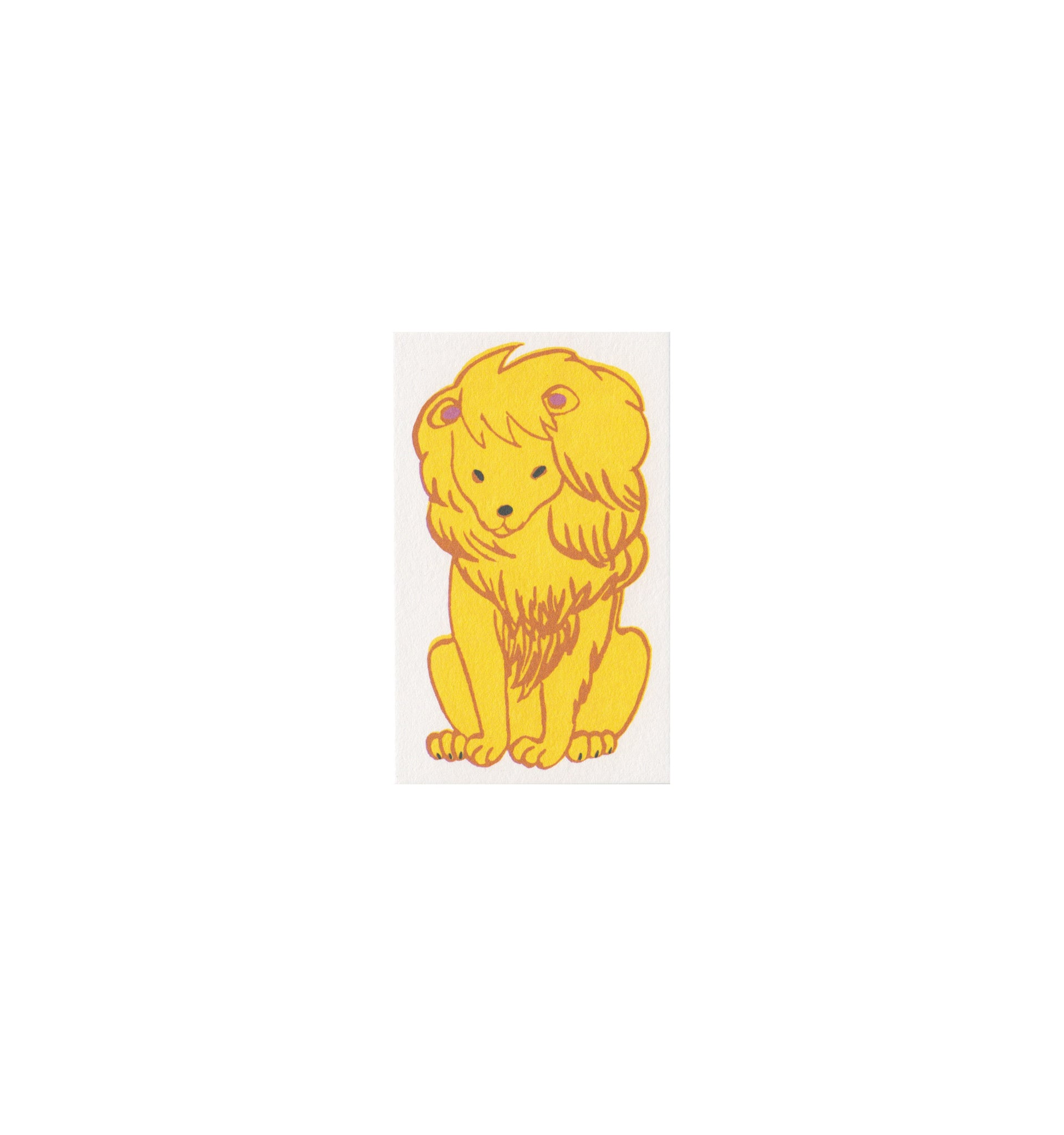 Classiky Small Treasuring Cards: Lion
