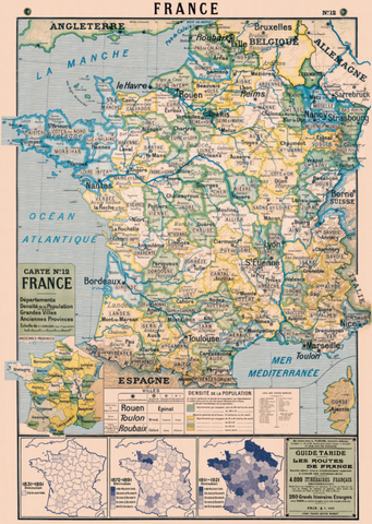 Cavallini & Co Poster Wrap / France Map 2