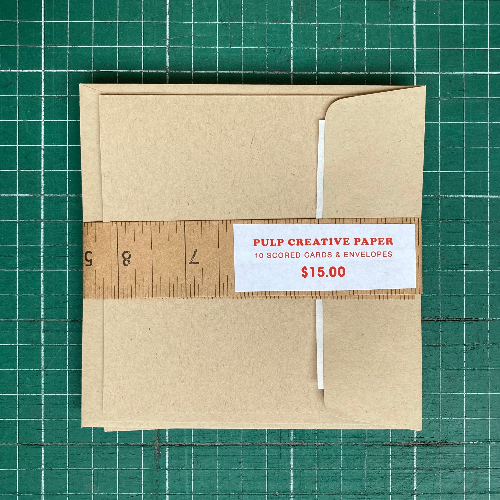 Blank Kraft 12x12 Scored Cards with Envelopes