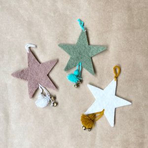 Muskhane Felt Star with Bell