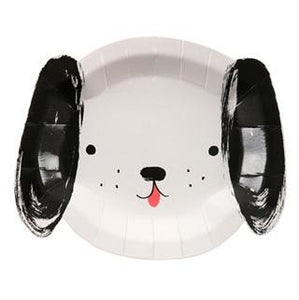 Meri Meri Black and White Dog Plates