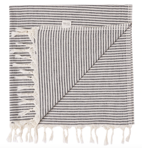 MAYDE turkish towel Noosa: Black