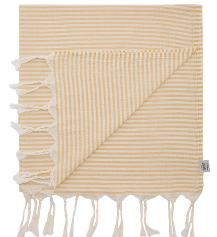 MAYDE turkish towel Noosa: Mustard