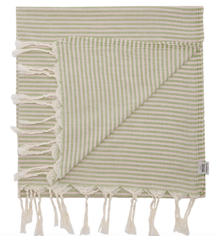 MAYDE turkish towel Noosa: Olive / Pink