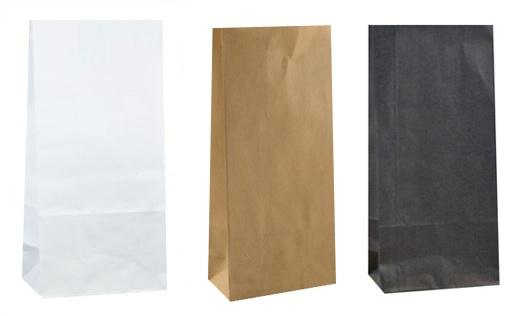 Paper Treat Bags: Kraft, White or Black