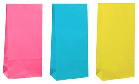 Paper Treat Bags: Pink, Blue or Yellow