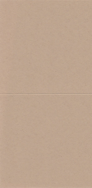 12x12 Scored Card Blank Bi-fold: White / Cream / Kraft