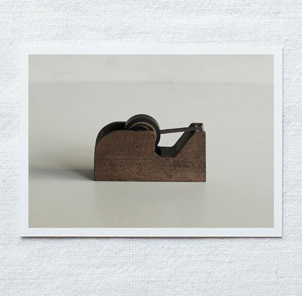 Classiky Wooden Tape Dispenser: Natural / Brown