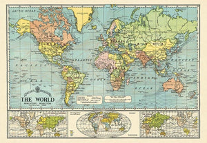 Cavallini & Co Poster Wrap / World Map 6
