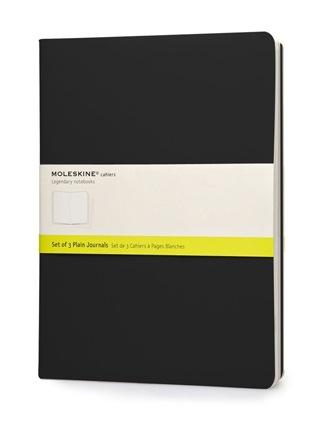 Moleskine Cahier Set of 3 - XL - BLACK plain