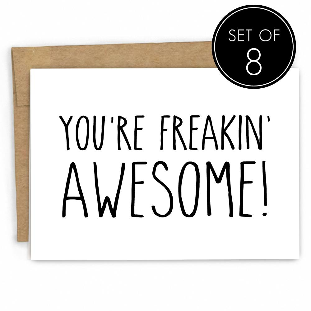An Awesome Person Set Of 8 Fresh Card Co
