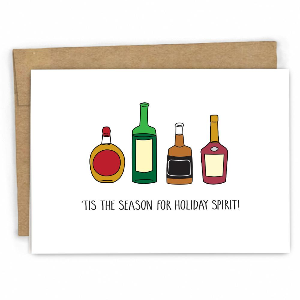 Holiday Spirit...and Drinking! Christmas Card – Fresh Card Co