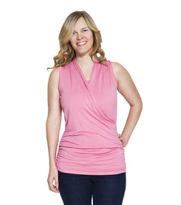 MOMZELLE Maternity/Nursing Tank-JOSIANE (PINK) ON FINAL SALE!