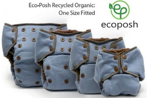 Ecoposh OBV One Size FITTED Cloth Diaper (Overnight Diapers)