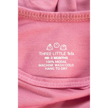 Load image into Gallery viewer, THREE LITTLE TOTS Knotted Baby Gown (ROSE)