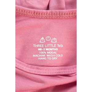 THREE LITTLE TOTS Knotted Baby Gown (ROSE)