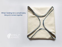 Load image into Gallery viewer, Easy peasies: 2Ply Bamboo Trifolds Inserts: The Best Cloth Diaper inserts ON SALE!!!