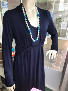 MOMZELLE MATERNITY/NURSING WEAR : ABIGAIL-Deep Blue Sea-On FINAL Sale!!!