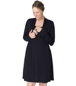 MOMZELLE MATERNITY/NURSING WEAR : ABIGAIL (Black) On FINAL Sale!!!