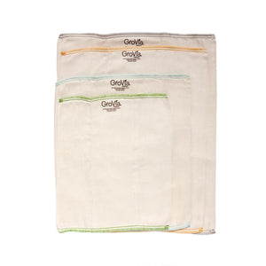 GROVIA Bamboo Prefolds-SIZE 3 INFANT SIZE (3 Per Pack)