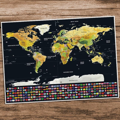 The Globetrotter Scratch Map