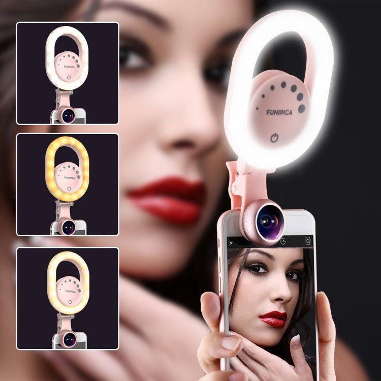 2-in-1 Selfie Ring Light & Phone Lens