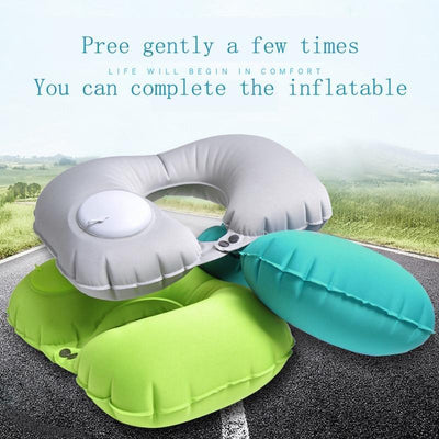 EasyInflate Travel Pillow