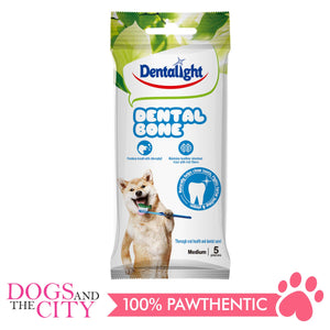 "Dentalight 2238 3"" Dental Bone -Medium 5 pieces 90g - All Goodies for Your Pet"