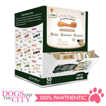 "Load image into Gallery viewer, Dentalight 5444 Vital Fiber Wellbar Brush/Wellbar 2.7"" Small Mix Dog Treats (50 pieces per box) - All Goodies for Your Pet"
