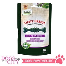"Load image into Gallery viewer, Dentalight 8209 Dent Fresh 3"" Chlorophyll and Peppermint Dog Treats 150g - Dogs And The City Online"