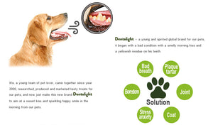 "Dentalight 8209 Dent Fresh 3"" Chlorophyll and Peppermint Dog Treats 150g - Dogs And The City Online"