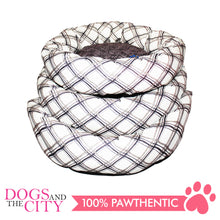 Load image into Gallery viewer, YYY W15M Donut Shape Checkered Pet Bed Medium 50x50x10cm for Dog and Cat