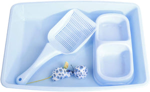 Pawise 28947 4-Piece Cat Starter Kit Blue - All Goodies for Your Pet