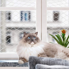Load image into Gallery viewer, Pawise 28402 Balcony Cat Protection Net Transparent 3x2m