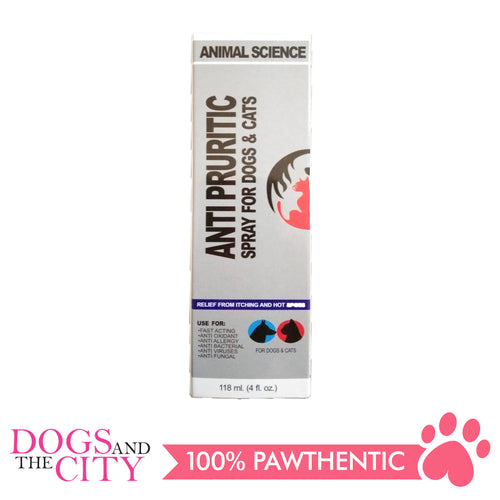 Animal Science K9 Anti Pruritic Anti Itch Spray 118ml - All Goodies for Your Pet
