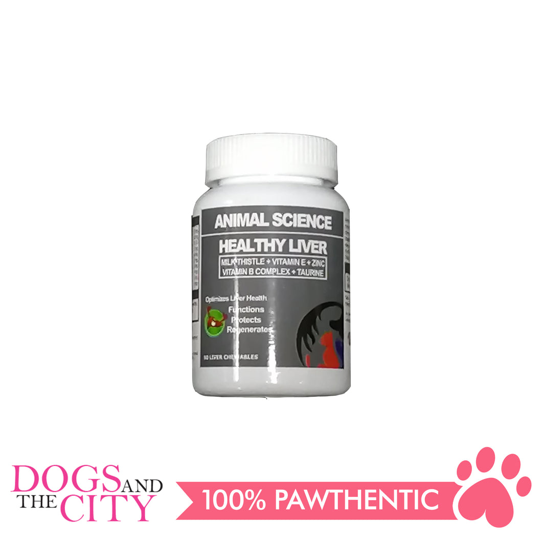 Animal Science Healthy Liver 60's Chewables - Dogs And The City Online