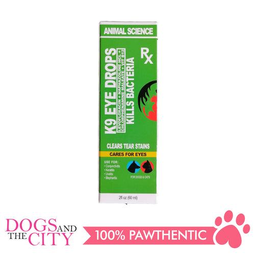 Animal Science K9 Eye Drops 60ml - Dogs And The City Online