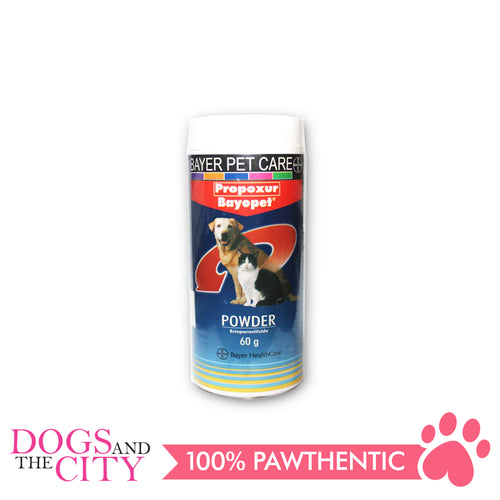 Bayopet Tick and Flea Powder 60g - All Goodies for Your Pet