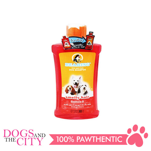 Bearing Tick & Flea Dog Shampoo Smelly Hair 300ml - Dogs And The City Online