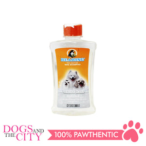 Bearing Tick & Flea Dog Shampoo White Hair 300ml - All Goodies for Your Pet