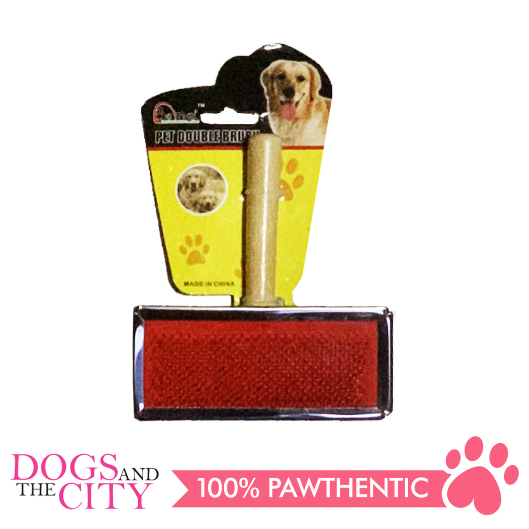 BM Wood Grooming Slicker Brush for Dog Large 11x5cm - All Goodies for Your Pet