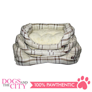 BM Rectangular Plaid Pet Bed Size 3 65x50x12cm for Dog and Cat