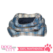 Load image into Gallery viewer, BM Rectangular Plaid Pet Bed Size 2 55x40x12cm for Dog and Cat