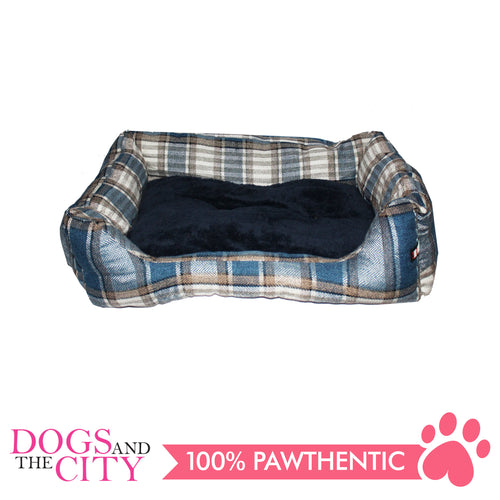 BM Rectangular Plaid Pet Bed Size 1 50x35x10cm for Dog and Cat