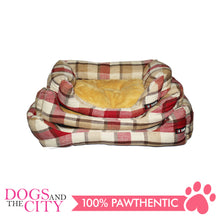 Load image into Gallery viewer, BM Rectangular Plaid Pet Bed Size 1 50x35x10cm for Dog and Cat