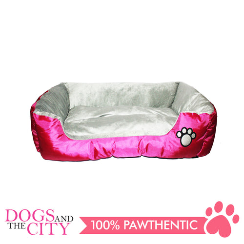 BM Rectangular Oxford Fabric Pet Bed Size 2 58x45x14cm for Dog and Cat