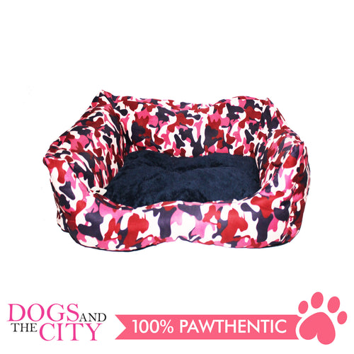 BM Rectangular Modern Camouflage Pet Bed Sz 3 60x50x15cm for Dog and Cat