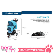 Load image into Gallery viewer, BM SP03 3 Wheel Pet Stroller Black